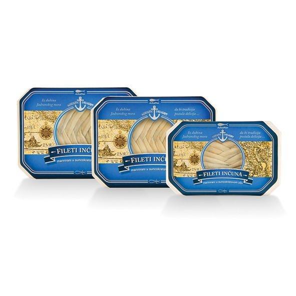 Anchois filety marynowane w oleju 75 g