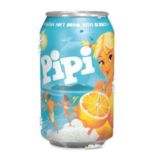 Napój gazowany o smaku pomarańczowym PIPI 0,33 ml
